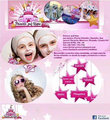 Spa para niñas en Bogota Princess and Stars