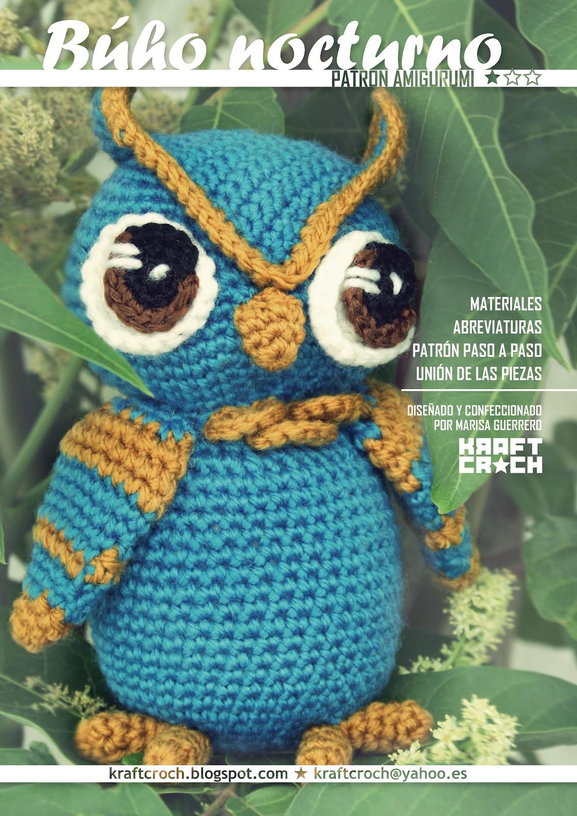 kraftcroch: patrón amigurumi búho nocturno / nocturnal owl amigurumi ...