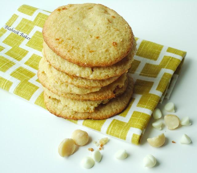White Chocolate Macadamia Cookies {Gluten-Free, Vegan} - Blahnik Baker