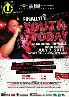 Youth Of Today Ke Jakarta