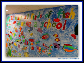 Ocean Mural: All Kinds of Fish to Make a School {Ocean RoundUP at RainbowsWithinReach}
