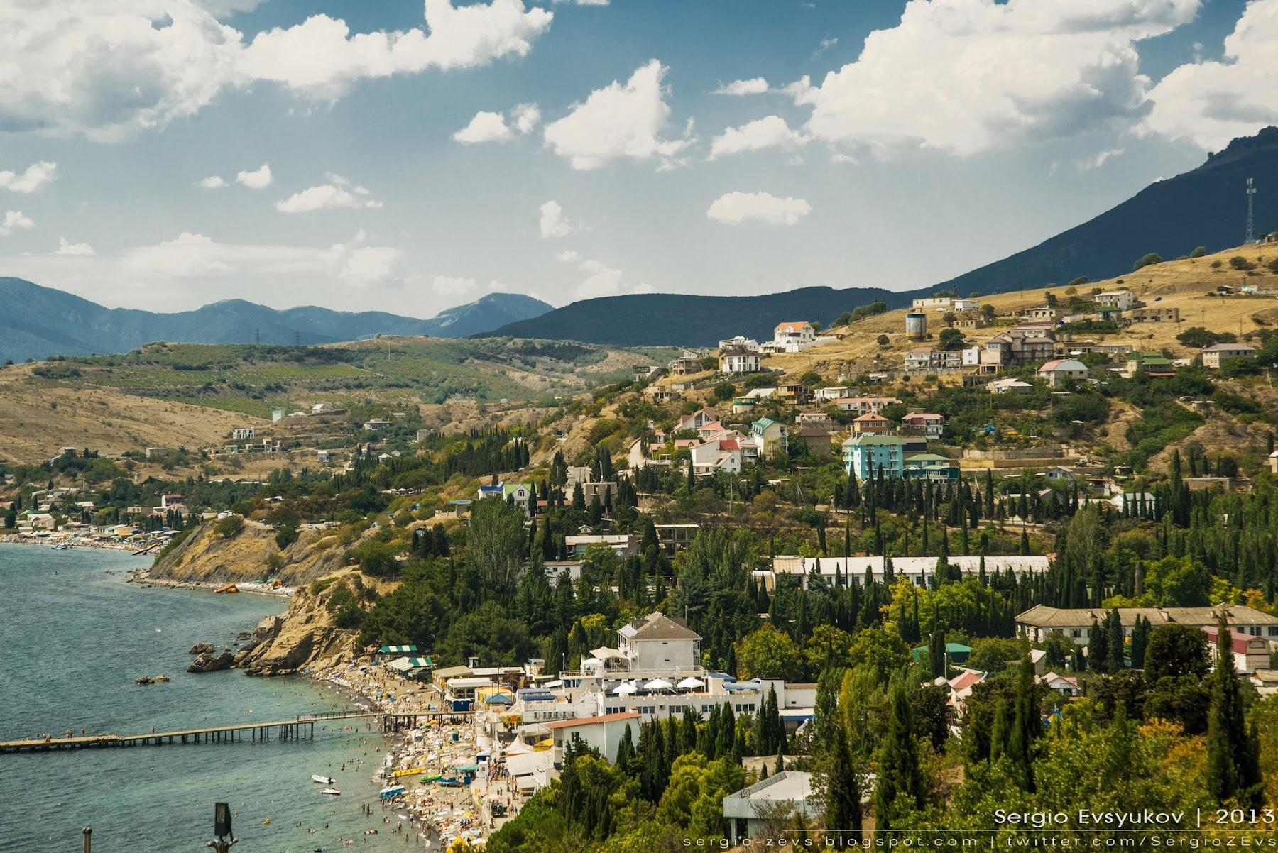 Курортный поселок в Украине