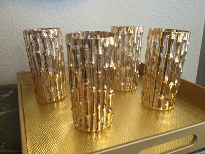 gold bamboo highball glasses