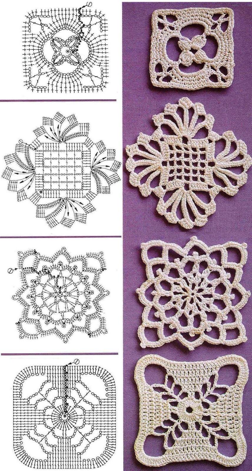 Ganchillo Pattern : Creazioni Rita C. ... Only Handmade!: Piastrelle: un po di Schemi a ...
