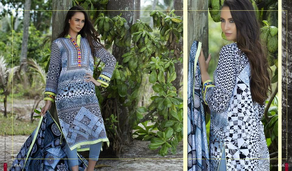 Anum Latest Classic Lawn Collection 2015 Vol-2 By Al-Zohaib