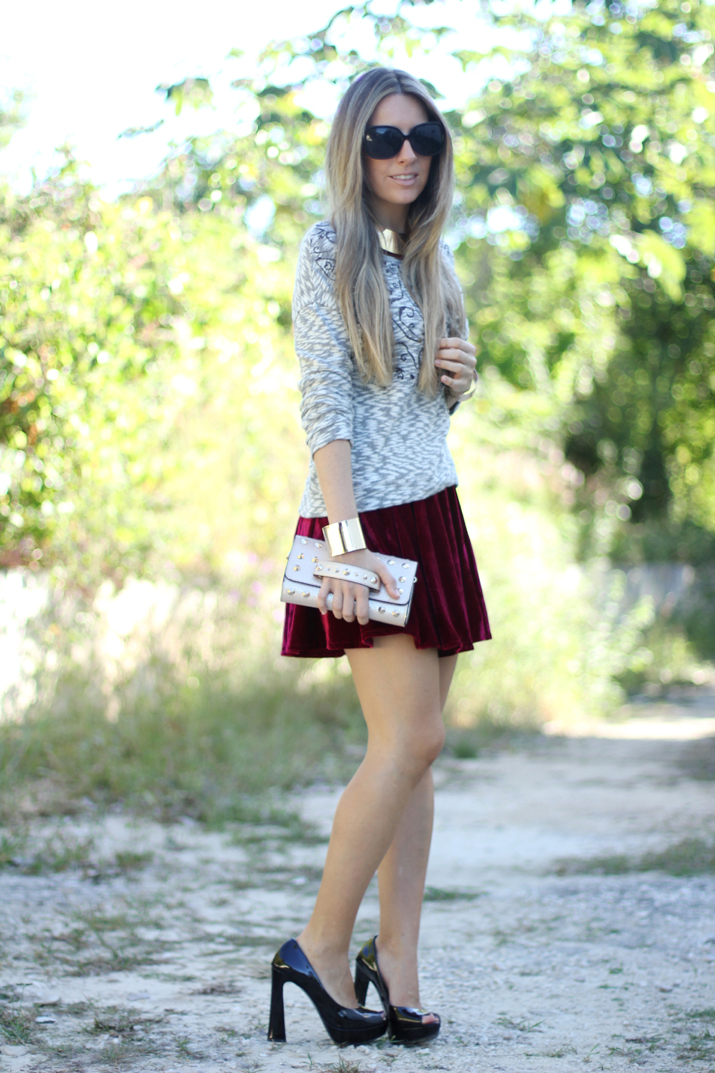 Velvet trend by fashion blogger Mónica Sors