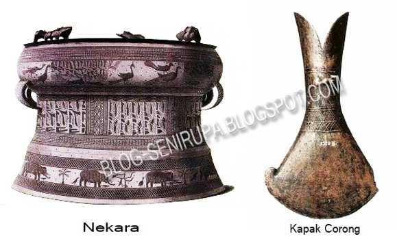 Sejarah Senirupa Indonesia Zaman Prasejarah Kapak corong dan Nekara