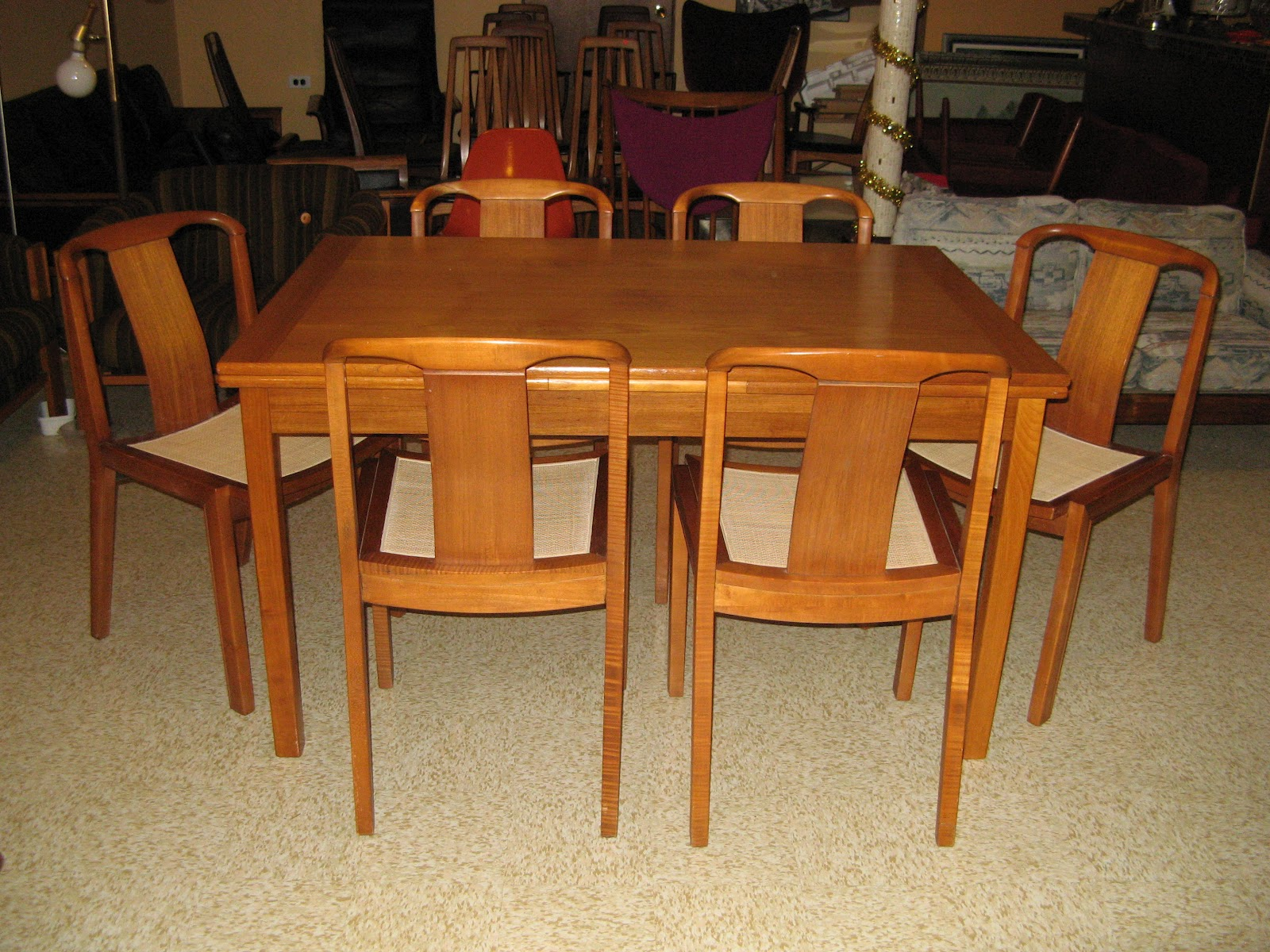 Danish Modern Teak Dining Table And 6 Gorgeous Dining Chairs SOLD
