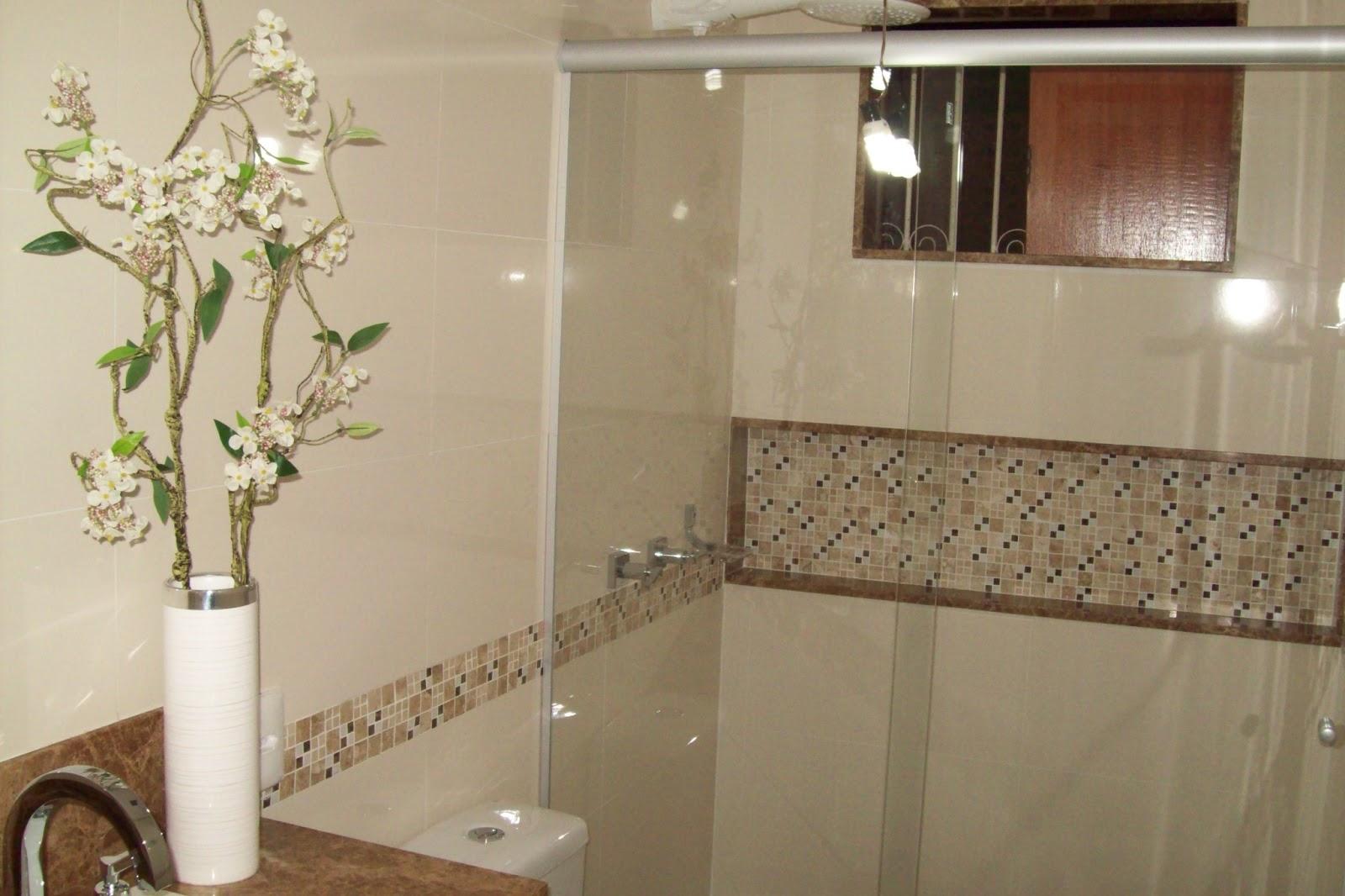 Construções Domingos: Banheiro com Nicho #7D9635 1600x1066 Banheiro Com Acabamento Com Pastilhas
