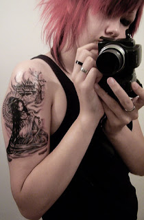 Geisha Girl Tattoo Design - Arm Tattoo