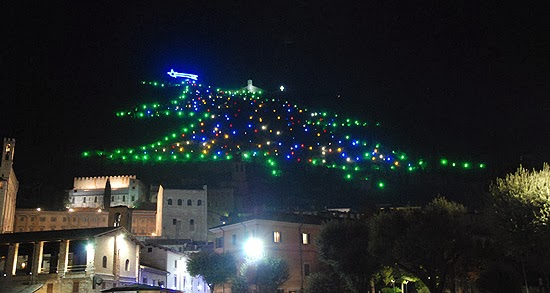 World's largest Christmas Tree: Gubbio