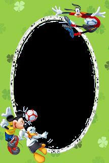 Caratulas para Niños:de Mickey Mouse y sus Amigos jugando futbol