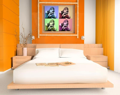 dormitorio estilo pop art