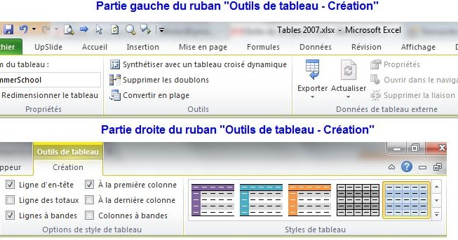 Monsieur Excel Outils De Tableau Creation