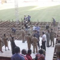 Pelantikan Gubernur Tetap di Stadion Mandala