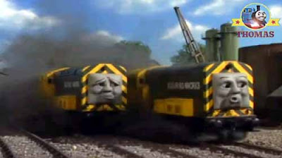 The freight train British Railways diesels had broken down the Sodor Ironworks Iron Bert & Iron Arry