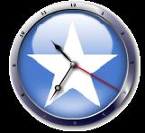 علم الصومال  Somalia flag clock