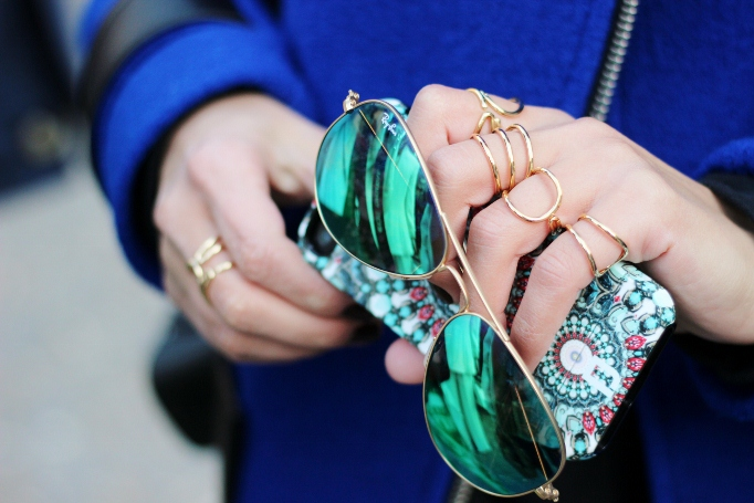 Camille over the Rainbow / Balenciaga stack rings