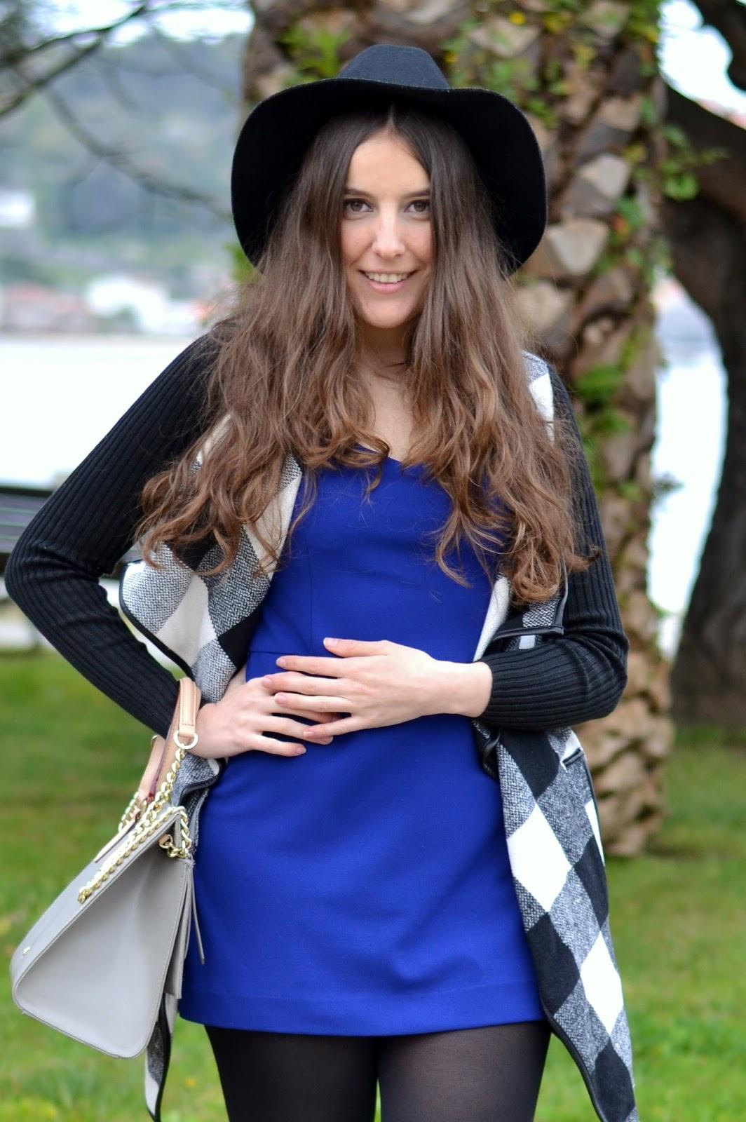 Zara blue klein jumpsuit