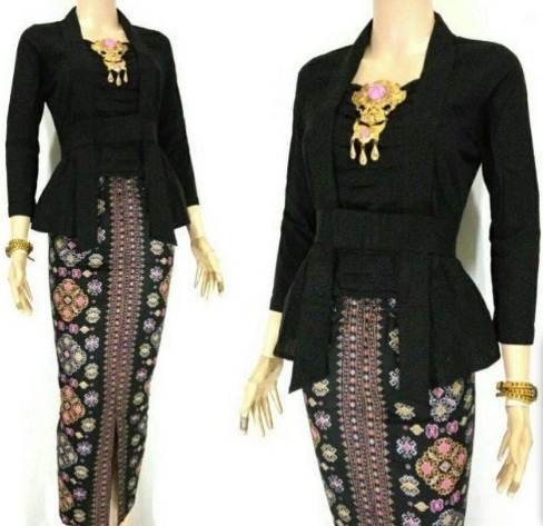 Koleksi Baju Batik Setelan Wanita Model Terbaru Kombinasi Rok Panjang Modern