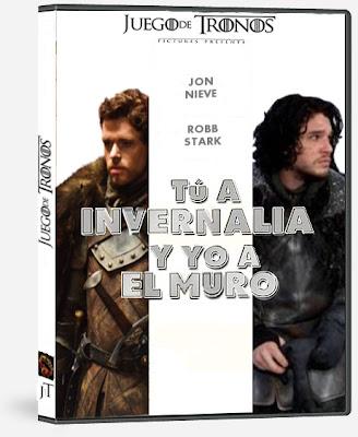 Jon Nieve y Robb Stark en Tu a Invernalia y yo a el Muro