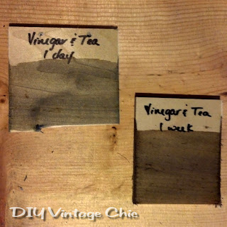 Solution for vinegar mixed with steel wool precoated with tea