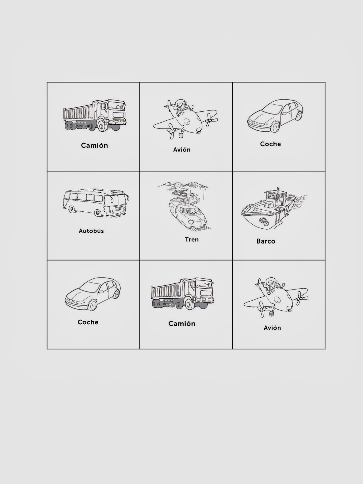 worksheet Elementary Spanish Worksheets modes transportation in spanish class simply class