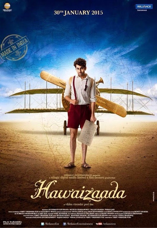 Hawaizaada Poster: Ayushmann with his airplane