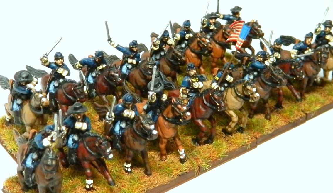 Union Cavalry Flag http://macpheesminiaturemen.blogspot.com/2012/11/15mm-union-cavalry.html