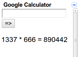 iGoogle gadgeti Gmail Google Calculator
