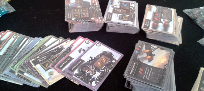 Unboxing Steampunk Rally cards