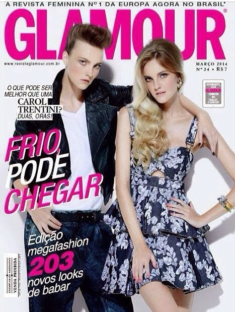 Carol Trentini Photos from Glamour Brasil Magazine Cover March 2014 HQ Scans