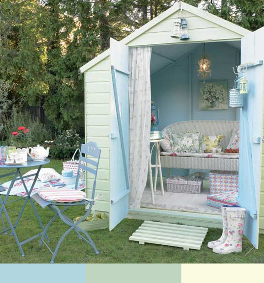 Shabby chic backyard for Shabby chic yard