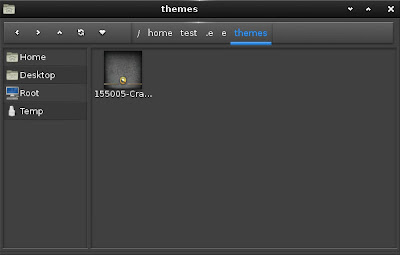 openSUSE 12.2 Enlightenment E17 themes folder