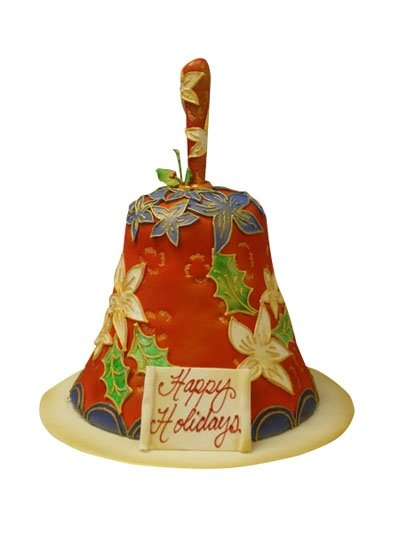 Christmas Wedding Cakes Pictures on Design Wedding Cakes And Toppers  Christmas Bell Cake