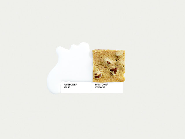 food art pairings david schwen, david schwen designer dschwen, graphic designer new york, pantone food, milk and cookies
