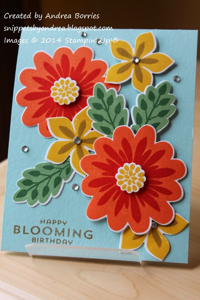 Snippets Flower Patch Blooming Birthday Card