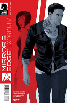 Cover of Mirror's Edge Exordium #2, courtesy of Dark Horse Comics