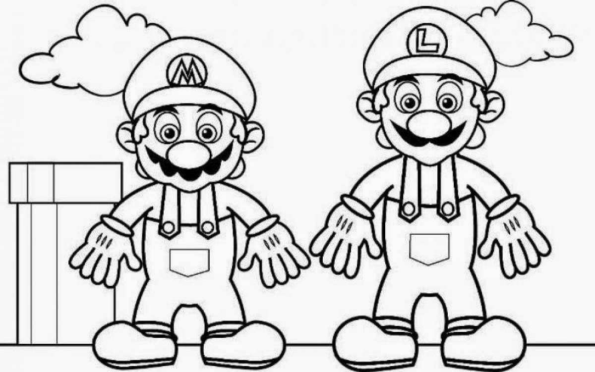 mario and luigi coloring pages for kids