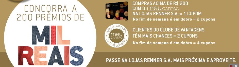 Participar promoção Lojas Renner 2015