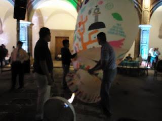 Globeros de Paracho en la Feria de Turismo Cultural en Morelia