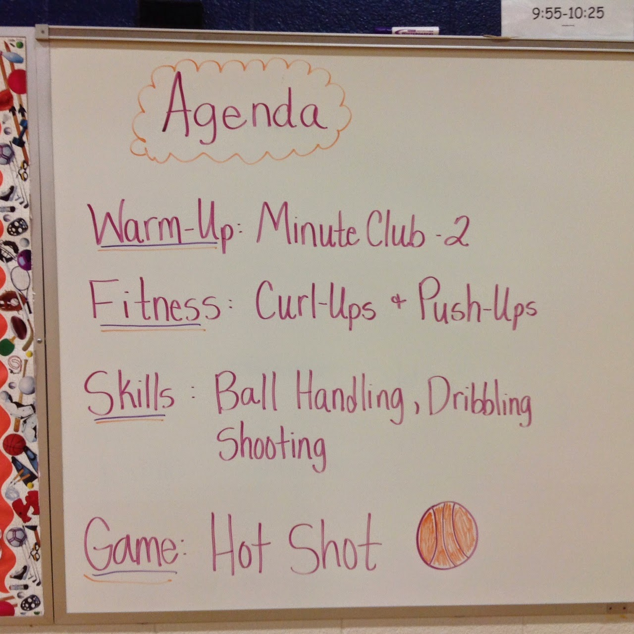 basketball lesson agenda