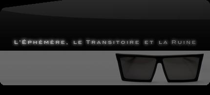 L'éphémère, le transitoire et la ruine