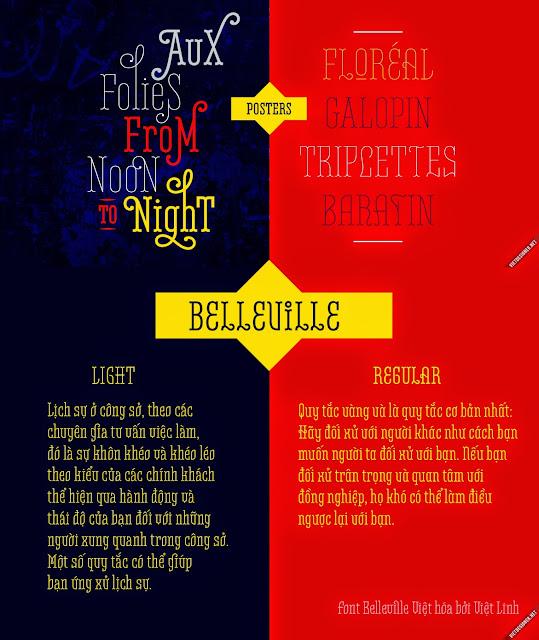 [Retro] Belleville FY Regular và Light Việt hóa