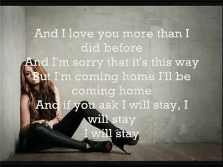 Stay Miley Cyrus Lyrics