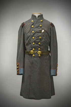 Col. Ellsworth's gun shot wound, uniform, repair and conservation of historic textiles and military items by art conservator