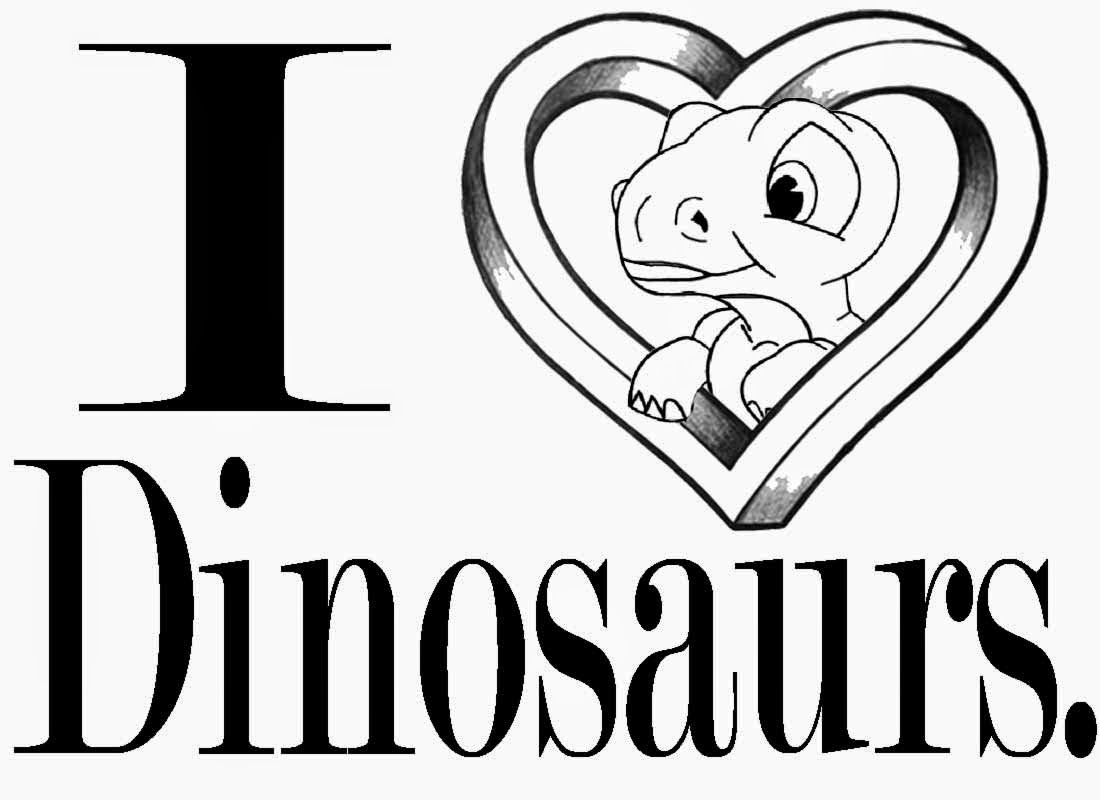 Real looking dinosaur coloring pages - Black And White Clipart Drawing Little Cute Dino Dan Cartoon I Love Dinosaur Coloring Pages To