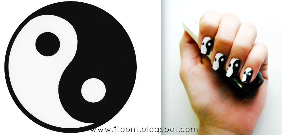 Beauty Make Up Nail Polishes Fashion Yin Yang Nail Art