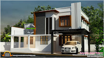 Double Storied Contemporary Villa - Kerala Home Design And