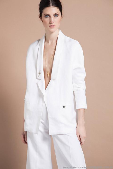 Vero Alfie moda verano 2015 trajes sastre mujer.